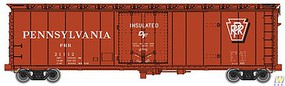 WalthersMainline 50 PC&F Insulated Boxcar - Ready to Run Pennsylvania Railroad #21112 (oxide, white, Shadow Keystone)
