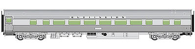 Walthers Mainline 85' Budd Large-Window Coach CB&Q -- HO Scale Model Train Passenger Car -- #30003