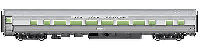 Walthers Mainline 85' Budd Large-Window Coach New York Central -- HO Scale Model Train Passenger Car -- #30005