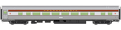 Walthers Mainline 85' Budd Large-Window Coach Pennsylvania Railroad -- HO Scale Model Train Passenger Car -- #30006
