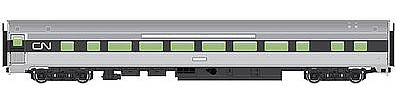 Walthers Mainline 85' Budd Large-Window Coach Canadian National -- HO Scale Model Train Passenger Car -- #30011
