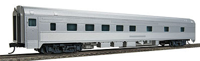 Walthers Mainline 85' Budd 10-6 Sleeper Painted Unlettered (Silver) -- HO Scale Model Train Passenger Car -- #30100