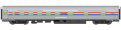 WalthersMainline 85 Budd 10-6 Sleeper Amtrak HO Scale Model Train Passenger Car #30101