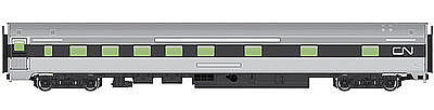 Walthers Mainline 85' Budd 10-6 Sleeper Canadian National -- HO Scale Model Train Passenger Car -- #30110