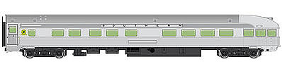 WalthersMainline 85 Budd Observation Southern HO Scale Model Train Passenger Car #30362
