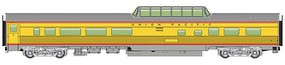 WalthersMainline 85' Budd Dome Coach Ready to Run Union Pacific(R) (Armour Yellow, gray, red)