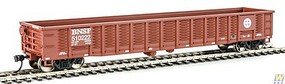 WalthersMainline 53 Corrugated-Side Gondola - Ready To Run Burlington Northern Santa Fe #510222 (Boxcar Red, Circle/Cross Logo)