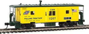 WalthersMainline International Bay Window Caboose Ready to Run` Chicago & North Western(TM) 11208