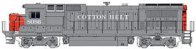 WalthersMainline GE Dash 8-40BW Cotton Belt #8086 HO Scale Model Train Diesel Locomotive #9556