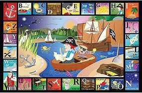 WhiteMount ABC Pirate Cove Puzzle Ages 3+ (24 Large pc)