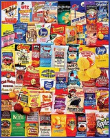 WhiteMount Potato Chips Brands Collage Puzzle (1000pc)
