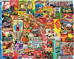 WhiteMount Penny Candy Collage Puzzle (550pc)