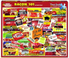 WhiteMount Bacon 101 Various Products Collage Puzzle (1000pc)