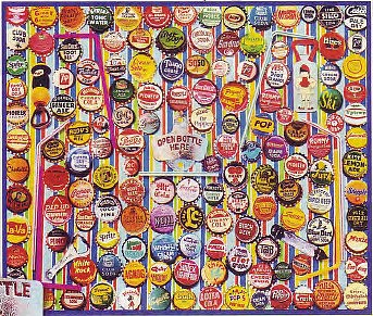 WhiteMount Soda Caps Collage Puzzle (1000pc)