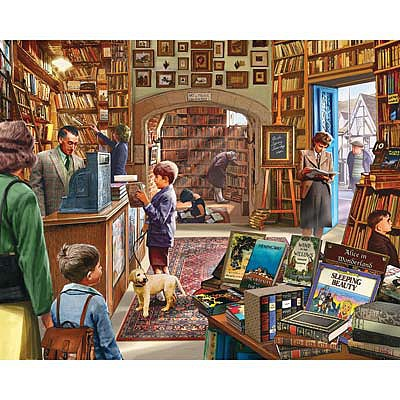 White Mountian Puzzles Old Book Shop 1000pcs -- Jigsaw Puzzle 600-1000 Piece -- #1082pz