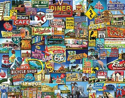 WhiteMount Roadside America Collage Puzzle (1000pc)