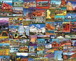 WhiteMount Best Places in America Collage Puzzle (1000pc)