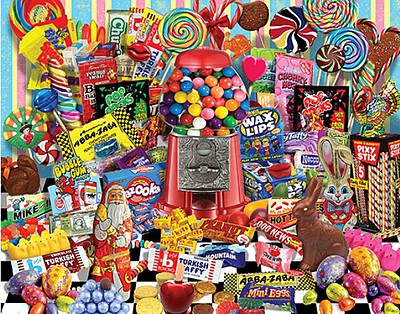White Mountian Puzzles Candy for All Seasons Collage Puzzle (1000pc)