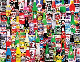 WhiteMount Soda Pop Bottles & Cans Collage Puzzle (1000pc)
