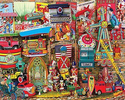 WhiteMount Antique Toys Collage Puzzle (1000pc)