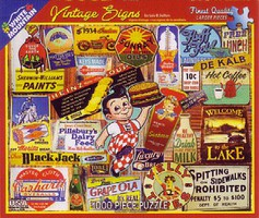 WhiteMount Vintage Signs Collage Puzzle (1000pc)