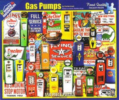 WhiteMount Gas Pumps Collage Puzzle (550pc)
