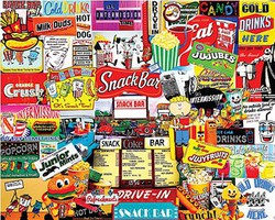 WhiteMount Snack Bar Collage Puzzle (1000pc)