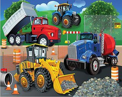 WhiteMount Trucks & Tractors Puzzle Ages 3+ (24 Large pc)
