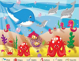 WhiteMount Sea Time Floor Puzzle Ages 3+ (24 Jumbo pc)
