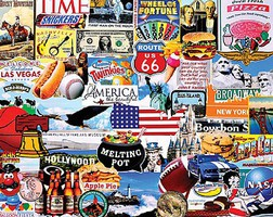 WhiteMount I Love America (Popular Favorites) Collage Puzzle (1000pc)