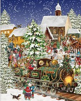 WhiteMount Christmas Train w/Santa & Toys Puzzle (1000pc)