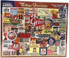 WhiteMount Vintage Groceries Signs & Advertising Collage Puzzle (1000pc)