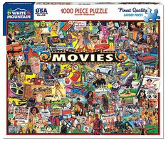 WhiteMount Movies (Famous Stars & Iconic Memorabilia) Collage Puzzle (1000pc)