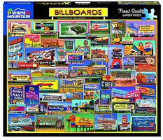 WhiteMount Billboards Collage Puzzle (1000pc)