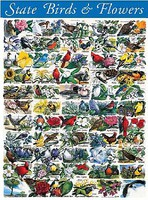 WhiteMount State Birds & Flowers Puzzle (1000pc)