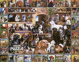 WhiteMount World of Dogs Collage Puzzle (1000pc)