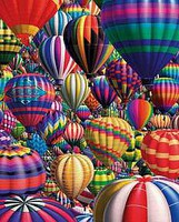 Hot Air Balloon Collage Puzzle (1000pc)