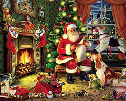 WhiteMount Christmas Santa Checking it Twice Puzzle (1000pc)