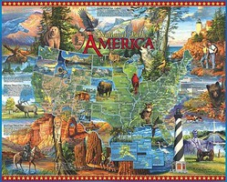 WhiteMount Americas National Parks Collage Puzzle (1000pc)