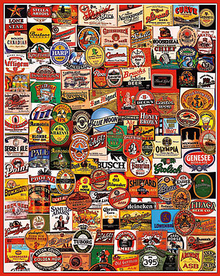 White Mountian Puzzles Cheers! Beer Labels Collage Puzzle (1000pc)