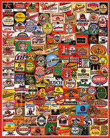 WhiteMount Cheers! Beer Labels Collage Puzzle (1000pc)