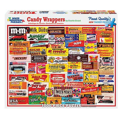 White Mountian Puzzles Candy Wrappers 1000pcs -- Jigsaw Puzzle 600-1000 Piece -- #862pz