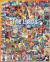 WhiteMount The 1980s Events & Famous People Collage Puzzle (1000pc)