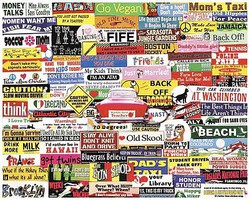 WhiteMount Bumper Stickers Collage Puzzle (1000pc)