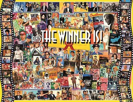 WhiteMount And the Winner Is! Oscar Movie Award Collage Puzzle (1000pc)