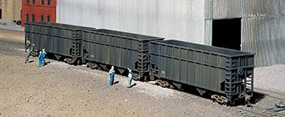 Walthers Steel Mill Coke Works Cars - Kit -- Coke-Service High-Side Two-Bay Hopper pkg(3) - HO-Scale