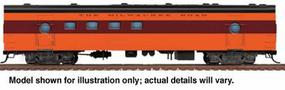 Walthers 1955 Twin Cities Hiawatha Railway Post Office - Ready to Run Milwaukee Road #2152-2153 (orange, maroon, black) - HO-Scale
