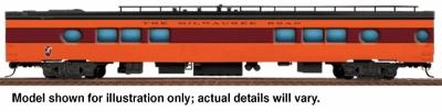 Walthers Milwaukee Road 1955 ''Twin Cities Hiawatha'' Streamlined Cars Assembled -- 26-Seat Tap Lounge #172-173 - HO-Scale