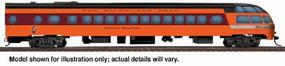 Walthers Milwaukee Road 1955 Twin Cities Hiawatha Streamlined Cars Assembled Skytop Lounge ...Rapids Series #186-189 - HO-Scale