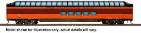 Walthers Milwaukee Road 1955 Twin Cities Hiawatha Streamlined Cars Assembled Pullman-Standard Super Dome #50-59 - HO-Scale